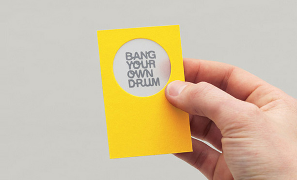 Get noticed 5 really creative business card designs bang your own drum stationery uk this business card reheart Image collections