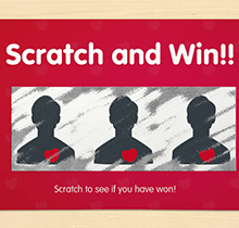 Win customer loyalty with scratch card marketing